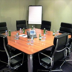 Another conference room of business center. Efficient layout. Equipped with teleconference facilities. Office furniture of high quality provided. (Cambridge House)