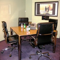 Conference room of business center. Efficient layout. Equipped with teleconference facilities and a TV. Office furniture of high quality provided. (Cambridge House)