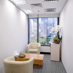 Conference room of business center. City view of Central. Office furniture of high quality provided. (9 Queen's Road Central)