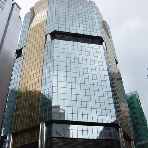 The facade of 68 Yee Wo Street. Located on Yee Wo Street, Causeway Bay. 23-storey.