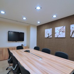 Conference room of business center. Equipped with teleconference facilities and a TV. (Miramar Tower)