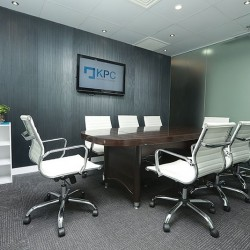 Conference room of business center. Modern design. Equipped with a white board. Office furniture provided. (Wing On Plaza)