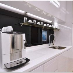 Pantry of business center. Equipped with a coffee maker and fridge. Contemporary design. (Sino Plaza)