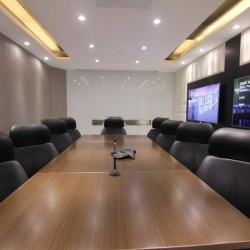 Conference room with teleconference facilities and two TVs. Edgy and contemporary design. Central air-conditioning. (Causeway Bay Plaza 2)