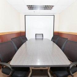 Conference room with a screen. Traditional design. Office furniture provided. (Mongkok Commercial Centre)