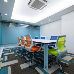 Conference room of business center. Edgy design. Office furniture provided. (Hung To Centre)