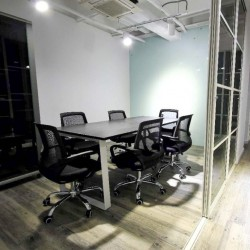 Conference room of business center. Modern design and furniture. (King Yip Factory Building)