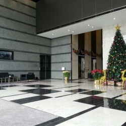 The lobby of MG Tower. Modern design. (MG Tower)