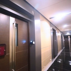 The lift lobby of MG Tower. Stylish design. (MG Tower)