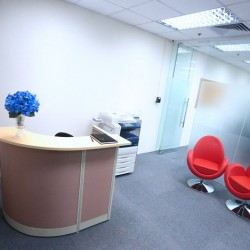 Reception of business center. Lounge area. (MG Tower)