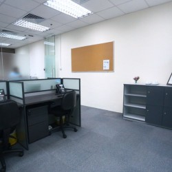 Workstations of business center. Office layout. (MG Tower)