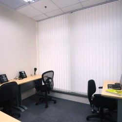 A room of multiple workstations. Efficiently arranged. (MG Tower)