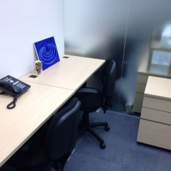 A room of double workstations. Office furniture including cabinet provided. (MG Tower)