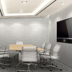 "38A02_Meeting room which can fit 8 people and provide video conference facility with 60"" LCD TV as a projector."