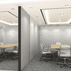"""38A03_  2 meeting rooms are convertible into a meeting room that could fit 16 ppl. We have video conference facility and 60"""" LCD TV as a projector."""