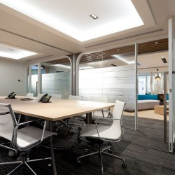 "38B02_Meeting rooms which can fit 12 people each have 50"" LCD TV for each meeting room as a projector."