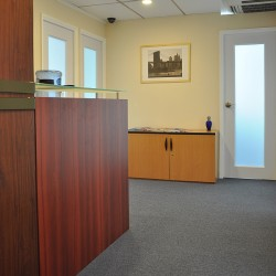 Reception of business center. Water dispenser. Split Type Air-Conditioning. CCTV monitoring. (Eastern Commercial Centre)