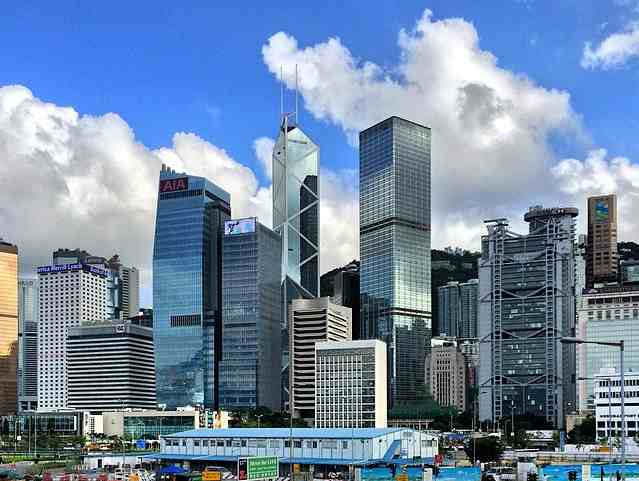 Office centre is located at Central, Hong Kong