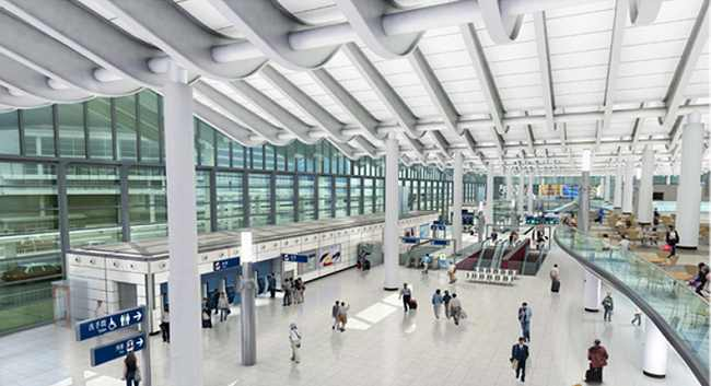 The Hung Hom Station concourse after improvement works.