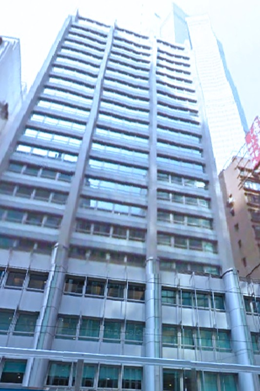 The facade of Central 88. Located on Des Voeux Road Central, Central. 22-storey.